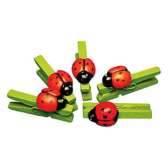 12 Ladybird Wooden Pegs   Wooden Shapes for Crafts