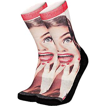 Pullin So-Long Pinup Crew Socks