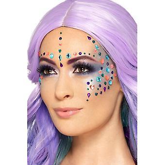 Make-up FX gezicht stenen zelfklevende carnaval accessoire pastel juweel gezicht edelstenen