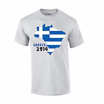 Griechenland 2014 Country Flag T-shirt (grau)