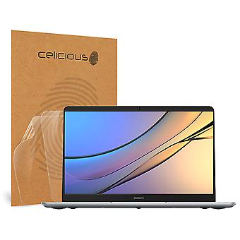 Celicious Vivid Invisible Glossy HD Screen Protector Film Compatible with Huawei MateBook D 15 [Pack of 2]
