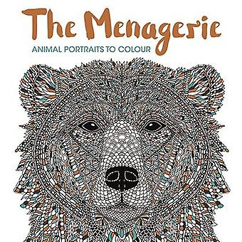 The Menagerie - Animal Portraits to Colour by Richard Merritt - Claire