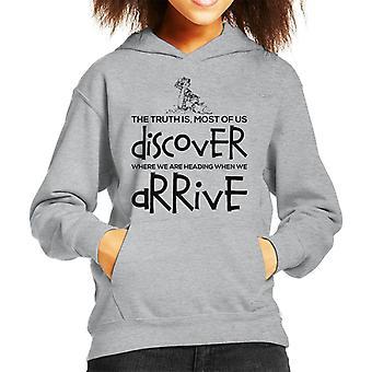 When We Arrive Calvin And Hobbes Quote Kid's Hooded Sweatshirt