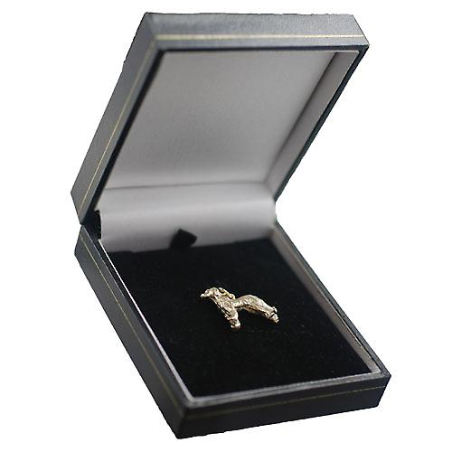 9ct Gold 17x23mm Afghan hound Pendant or Charm