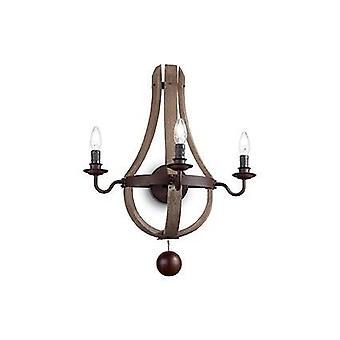 Ideal Lux - Millenium Brown Three Light Wall Light IDL136875