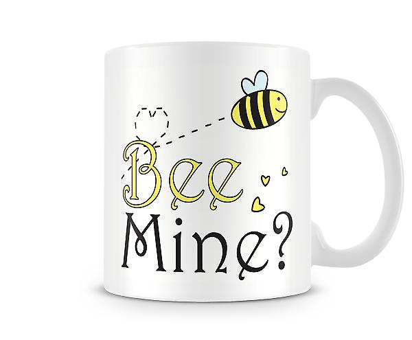 Decorative Writing Cartoon Bee Mine Printed Text Mug