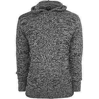 Urban classics men's z kapturem sweter z dzianiny melanż