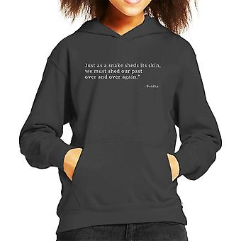 Mindfulness Buddha Past Quote Kid's Hooded Sweatshirt