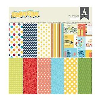 Authentique Summertime 12x12 Inch Paper Pad (SUM009)
