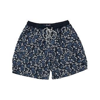 Pattern Swim Shorts - Navy