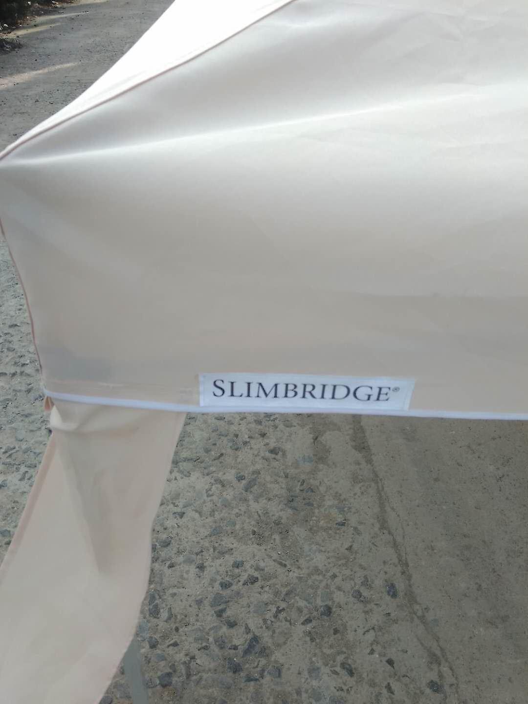 Slimbridge Bingham 3 x 3 m Folding Pop-Up Gazebo, Ivory