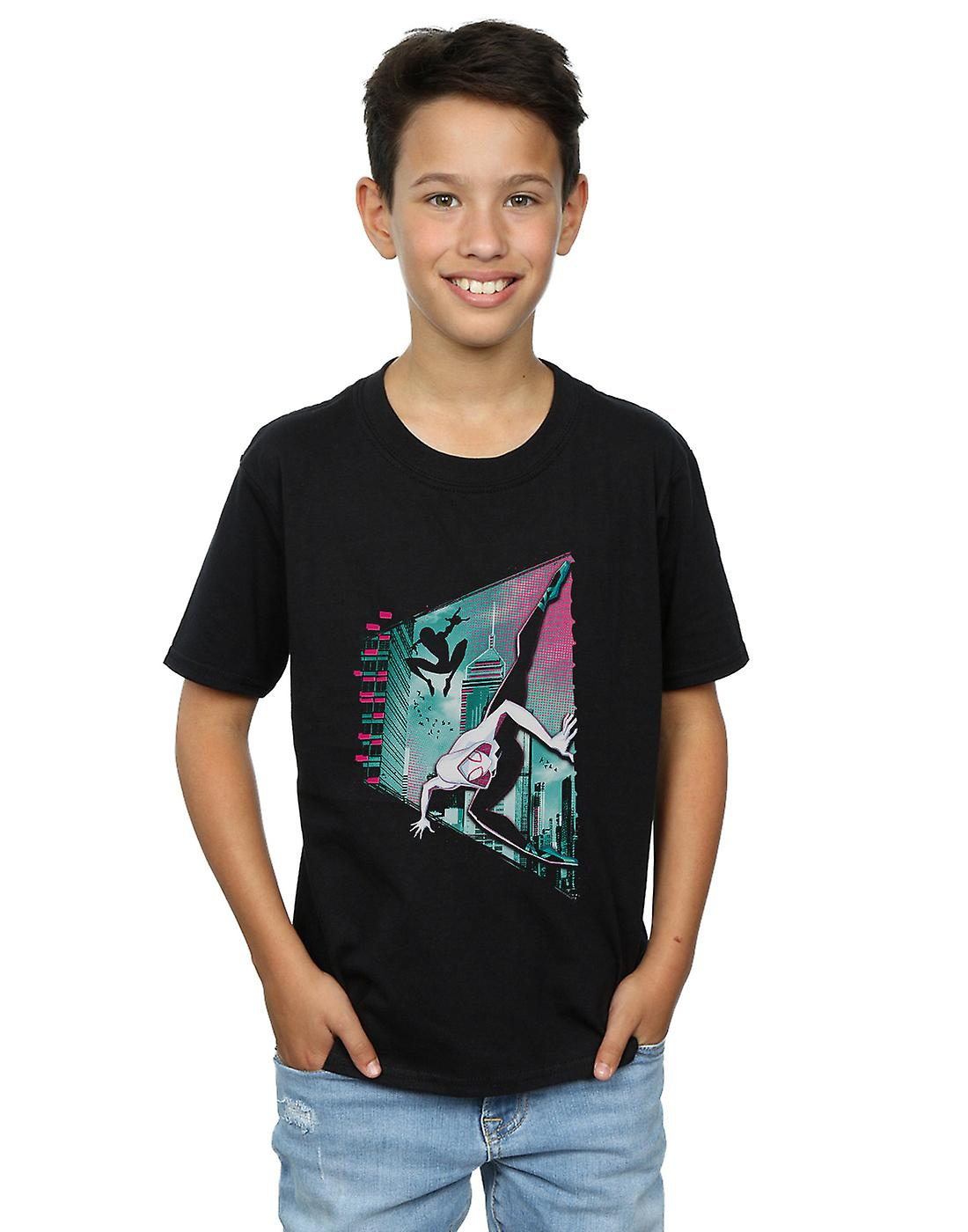 5925b8b1ae8be Marvel Boys Spider-Man Into The Spider-Verse Gwen And Miles T-Shirt   Fruugo