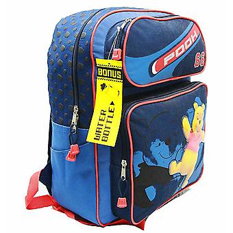 Backpack - Disney - Winnie the Pooh - Blue w/ Water Bottle Large Bag 28177