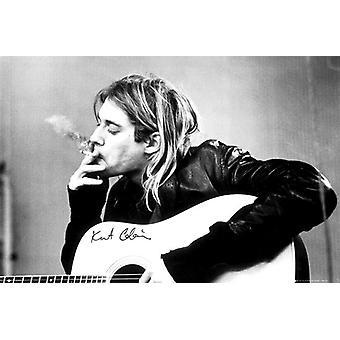 Kurt Cobain Rauchen Maxi Poster 61x91.5cm