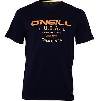 O ' Neill LM Dawson Crew-hals T-shirt, bläck blå
