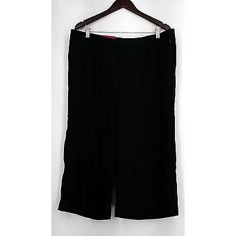 Pantalones Merona High Mid Rise Relajado Cadera y Muslo con Bolsillos Negro