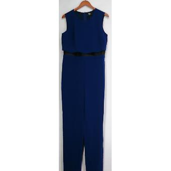 Giuliana Jumpsuits Layered Scoop Neck Tank Jumpsuit Navy Blue Womens 439-752