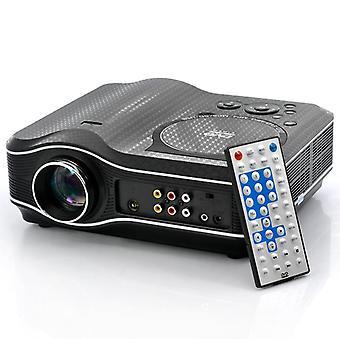 2100 Lumen DVD-Projektor mit DVD-Player-Videospiel-Projektor Beamer 400:1 Kontrast eu plug