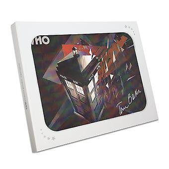 Tom Baker Signed Dr Who Tardis Poster In Gift Box