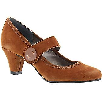 ARRAY Womens Sapphire Leather Round Toe Mary Jane Pumps