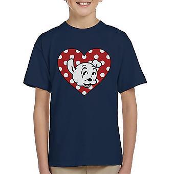 Betty Boop Pudgy Herz Poka Dot Kid's T-Shirt