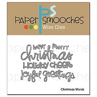 Paper Smooches Die Noël mots Ocd087