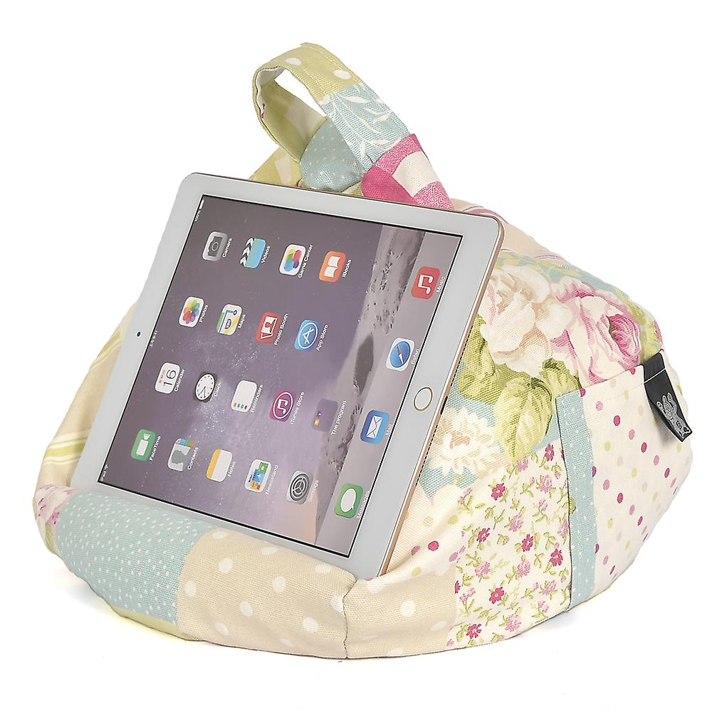 iBeani iPad, Tablet & eReader Bean Bag Stand / Cushion - Vintage Patch