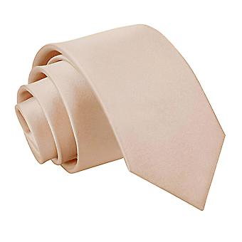 Boy's Plain Mocha Brown Satin Tie  (8+ years)