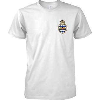 HMS Walney - buque desarmado de la Marina Real t-shirt color