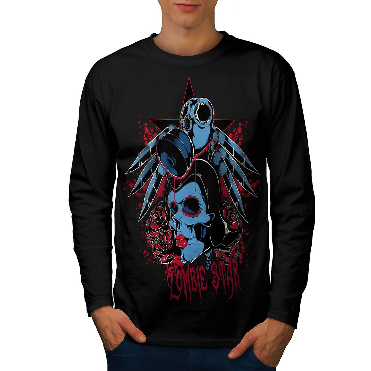 Evil Zombie Star Rise Nightmare Men Black Long Sleeve T-shirt | Wellcoda