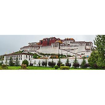 Low angle view of the Potala Palace Lhasa Tibet China Poster Print