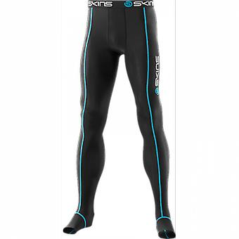 SKINS Jetskins Travel & Recovery Long Tights black with blue stitching Unisex - B13001001