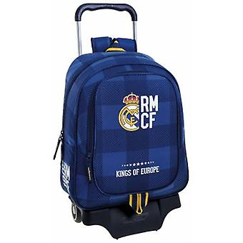 Real Madrid Mochila Real Madrid Con Carro Azul (Toys , School Zone , Backpacks)