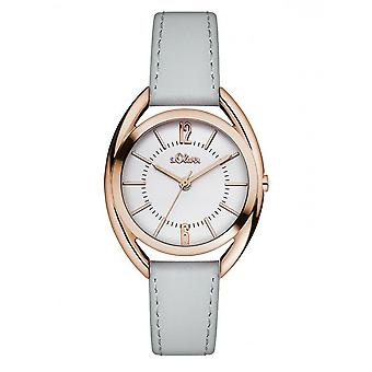 s.Oliver women's watch wristwatch leather SO-3160-LQ