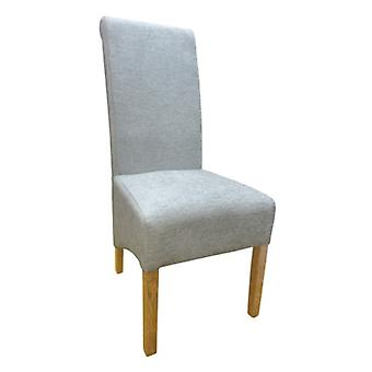 Dora Oak And Chenille Upholstered Chair - Color Selection - Fully Assembled