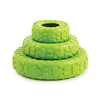 Natural Rubber Tyre Green Large 18cm (Pack of 6)