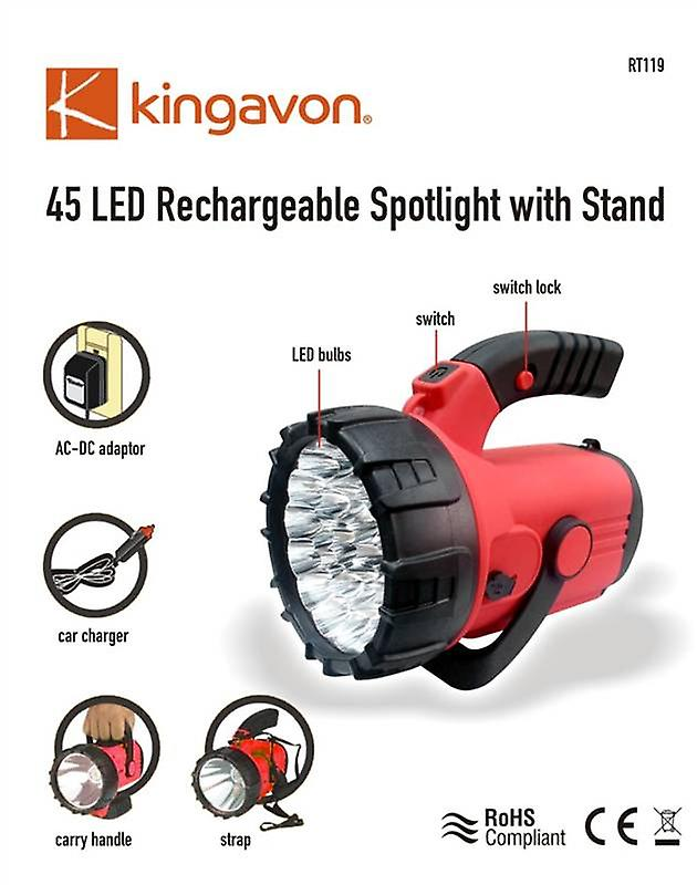 45 LED Rechargeable Spotlight with Stand