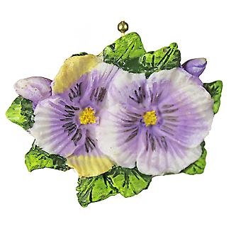 Purple Pansies Flowers Floral Porch Ceiling Fan or Light Pull