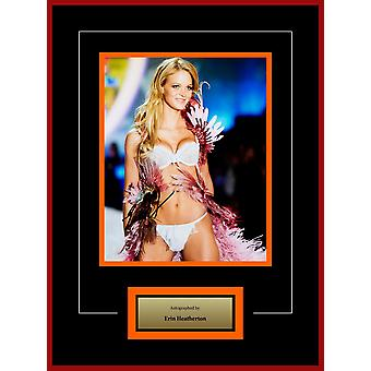 Erin Heatherton - Signed Photo - Framed Model Series