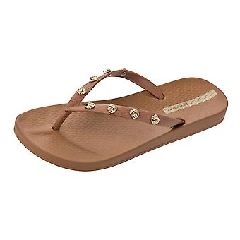 Ipanema Premium Love Knot Womens Flip Flops / Sandals - Tan