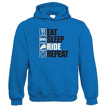 Vectorbomb, Eat Sleep Ride Repeat Biker Hoodie (S to 5XL)