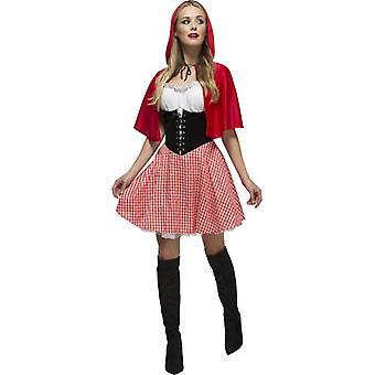 Rödluvan deluxe kostym little Red Riding Hood klänning fairytale dam