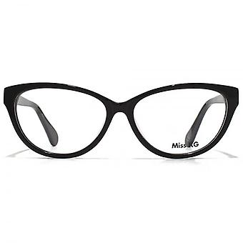 Miss KG Cateye Brille In schwarz
