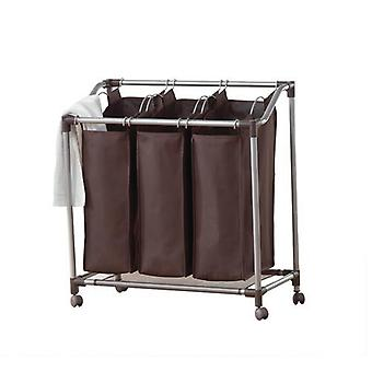 Neatfreak! Deluxe Triple Laundry Sorter (Spanish Brown)
