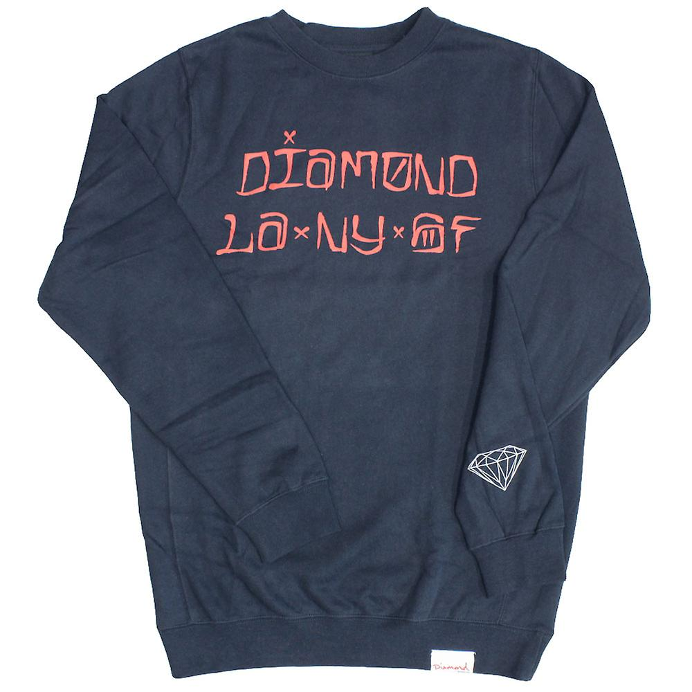 Diamond Supply Co Städte Sweatshirt Navy