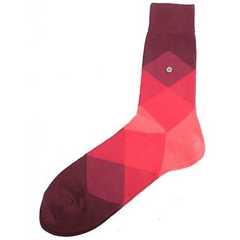 Clyde Burlington Socken - Burgund/rot