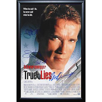 True Lies - Signed Movie Poster in Wood Frame with COA