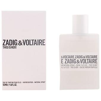 Zadig & Voltaire This Is Her Eau De Parfum Vapo 50 ml
