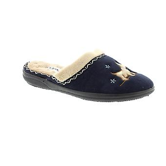 Padders Scotty - Navy (Textile) Womens Slippers