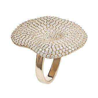 Alessandra Cocktail Ring Rosegold wit CZ